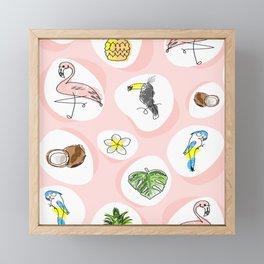 tropical party Framed Mini Art Print