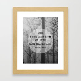 I took a walk in the woods Framed Art Print