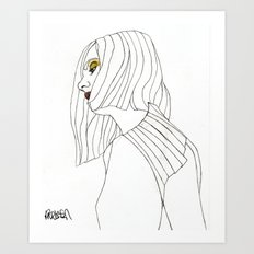 Yellow Eyeshadow Art Print