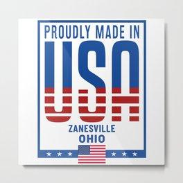 Zanesville Ohio Metal Print