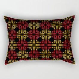 Golden Red Rectangular Pillow