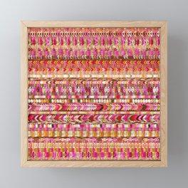 Colorful Ethnic Pattern Framed Mini Art Print