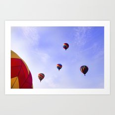 A Ride In The Sky - Hot Air Balloons  Art Print
