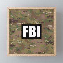 FBI (Black) Framed Mini Art Print