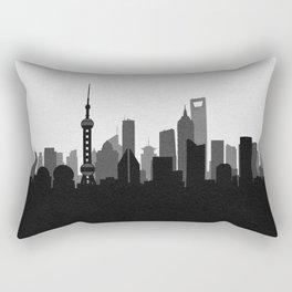 City Skylines: Shanghai Rectangular Pillow