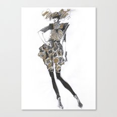 Fashion sketches in pencil Canvas Print