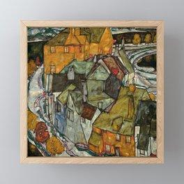 """Egon Schiele """"Crescent of Houses II (Island Town)"""" Framed Mini Art Print"""