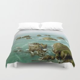 Where two oceans meet Duvet Cover
