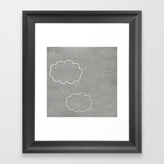 Cartoon Sky Framed Art Print