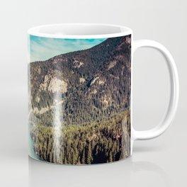Lake Diablo - Blue and Green Water and Trees Coffee Mug