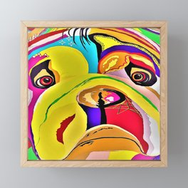 Bulldog Close-up Framed Mini Art Print