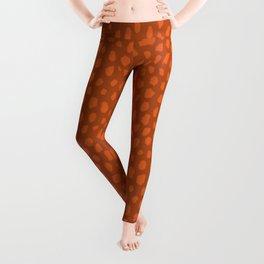 Burnt Orange Spots Leggings