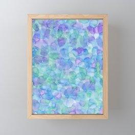 Cool Hue Watercolor Framed Mini Art Print