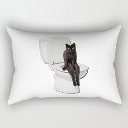 Toilet Cat Rectangular Pillow
