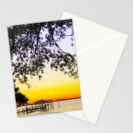 Summer Sunset Over the Bay Stationery Cards