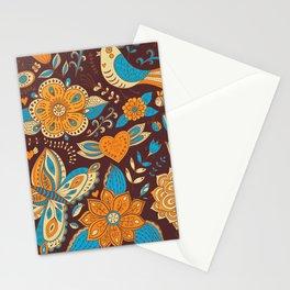 Floral Khokhloma pattern Stationery Cards