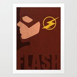 The Flash Minimalist - CW Art Print