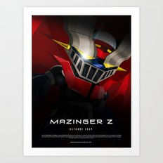 mazinger fan art Art Print