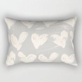 Heartsy-Gray Rectangular Pillow