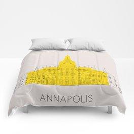 Annapolis Landmarks Poster Comforters