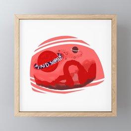 Find Yourself Neon Desert Mars Inspo Framed Mini Art Print