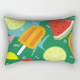 Watermelon, Lemon and Ice Lolly Rectangular Pillow