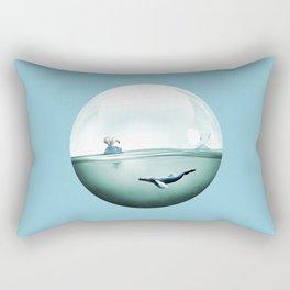 Whale bubble Rectangular Pillow