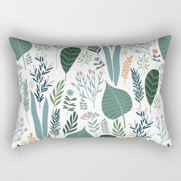 Early Spring Thaw In The Flower Garden Pattern Rectangular Pillow