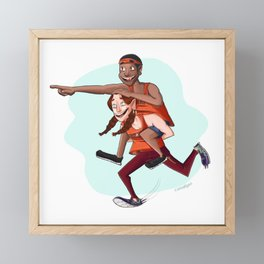 Team FUN! (Alternative) Framed Mini Art Print