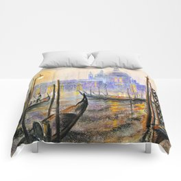 Lilac evening Comforters