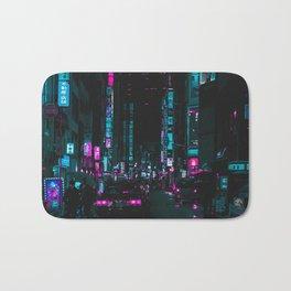 cyberpunk lost street Bath Mat