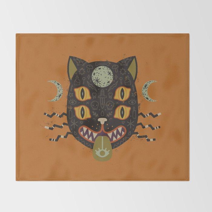 Spooky Cat Throw Blanket