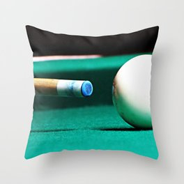 Pool Table-Green Throw Pillow