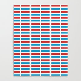 flag of luxembourg- Luxembourgish,Lëtzebuerg,Luxemburg,Luxembourger, luxembourgeois Poster