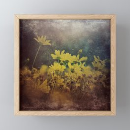 Abstract Yellow Daisies Framed Mini Art Print