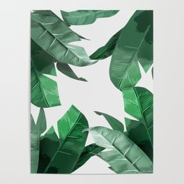 Tropical Palm Print Poster