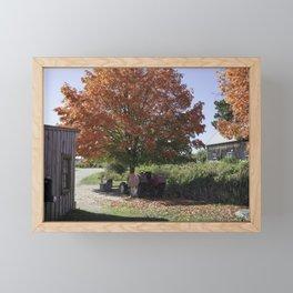 Fall time at the farm Framed Mini Art Print