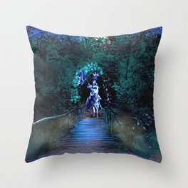 Entering Sherwood Forest Throw Pillow