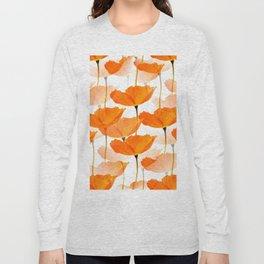 Orange Poppies On A White Background #decor #society6 #buyart Long Sleeve T-shirt