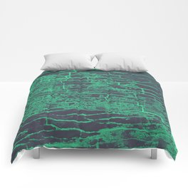 Green Grey Stone Comforters