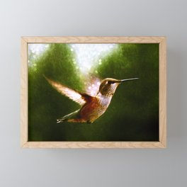 Moonlit Iridescence Hummingbird Framed Mini Art Print