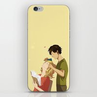 grantaire iPhone & iPod Skins featuring Enjolras et Grantaire by Sarlyne
