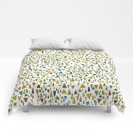 Watercolor triangle fantasy in nature colors Comforters