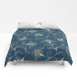 Dark Teal Elegance Comforters