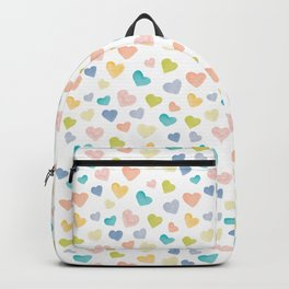 Rainbow Hearts Pattern | Watercolour Backpack
