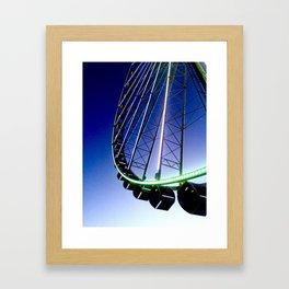 Twilight Ferris Wheel Framed Art Print