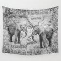 African Spirit Vintage Elephant black white by lebensart