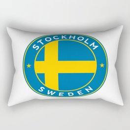 Sweden, Stockholm, circle Rectangular Pillow