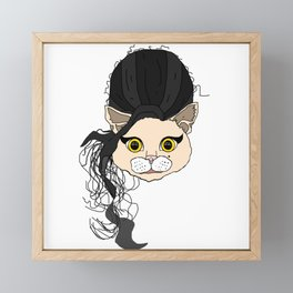 Amy Cat Head Framed Mini Art Print