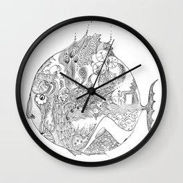 sad fish Wall Clock